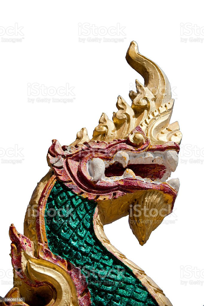 Serpent stucco over white background isolated. royalty-free stock photo