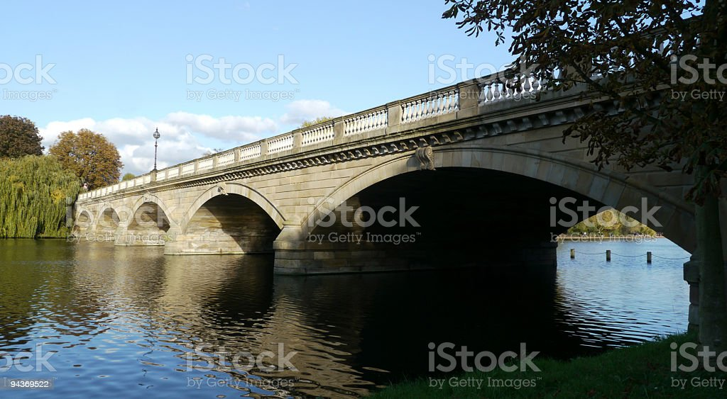 Serpentine Bridge stock photo