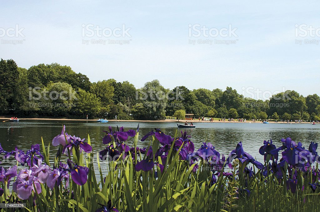 Serpentine Lake in Hyde Park London stock photo