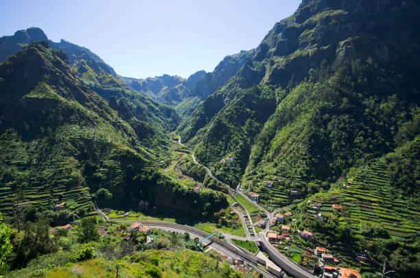 Serra de Agua valley on Madeira island, Portugal stock photo