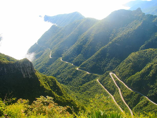 Serra do Rio do Rastro mountain road, Southern Brazil. stock photo