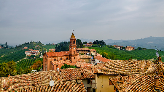 948424058 istock photo Serralunga d'Alba in the Langhe, a hilly area mostly based on vine cultivation and well known for the production of Barolo wine. Province of Cuneo, Piedmont, Italy 948416954