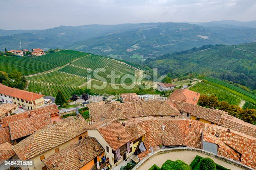 948424058istockphoto Serralunga d'Alba in the Langhe, a hilly area mostly based on vine cultivation and well known for the production of Barolo wine. Province of Cuneo, Piedmont, Italy 948421538