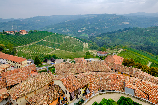 948424058 istock photo Serralunga d'Alba in the Langhe, a hilly area mostly based on vine cultivation and well known for the production of Barolo wine. Province of Cuneo, Piedmont, Italy 948421538