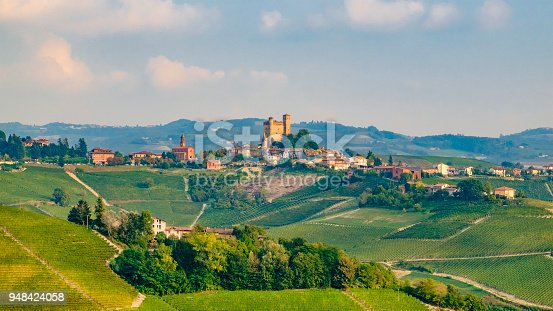 948424058istockphoto Serralunga d'Alba in the Langhe, a hilly area mostly based on vine cultivation and well known for the production of Barolo wine. Province of Cuneo, Piedmont, Italy 948424058
