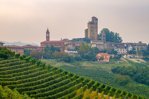 948424058 istock photo Serralunga d'Alba in the Langhe, a hilly area mostly based on vine cultivation and well known for the production of Barolo wine. Province of Cuneo, Piedmont, Italy 948426930