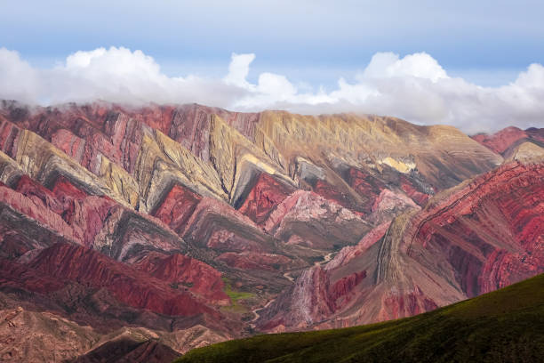 Serranias del Hornocal, colored mountains, Argentina stock photo