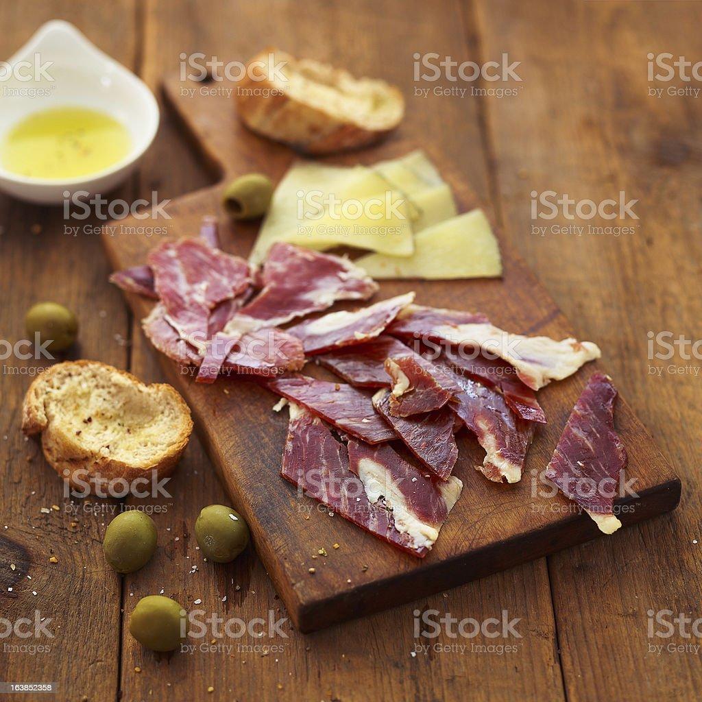 serrano ham royalty-free stock photo