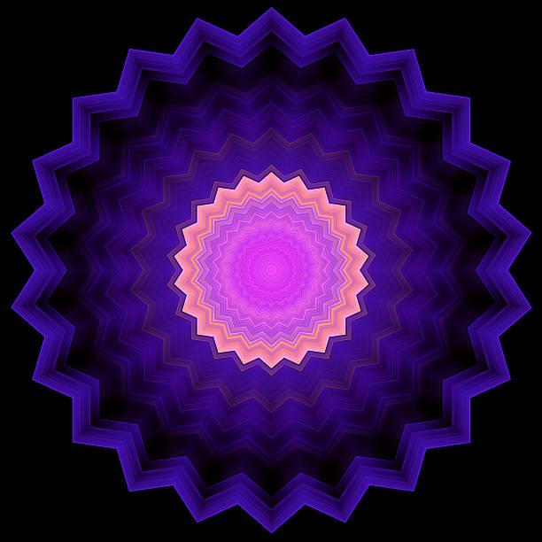 Serrated Circle - Geometric Ornament stock photo