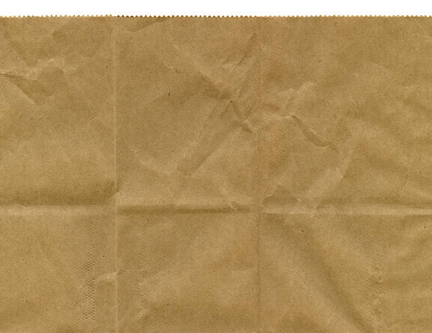 Serrated Edge of Brown Paper Bag stock photo
