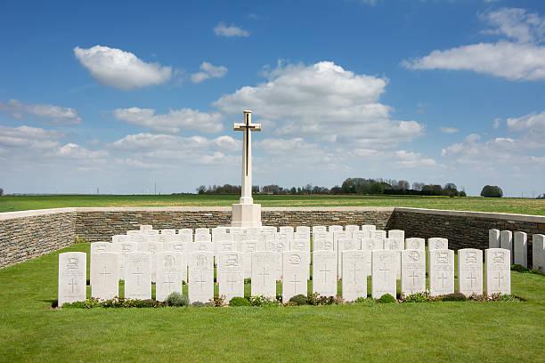 Serre Road Commonwealth Graves stock photo