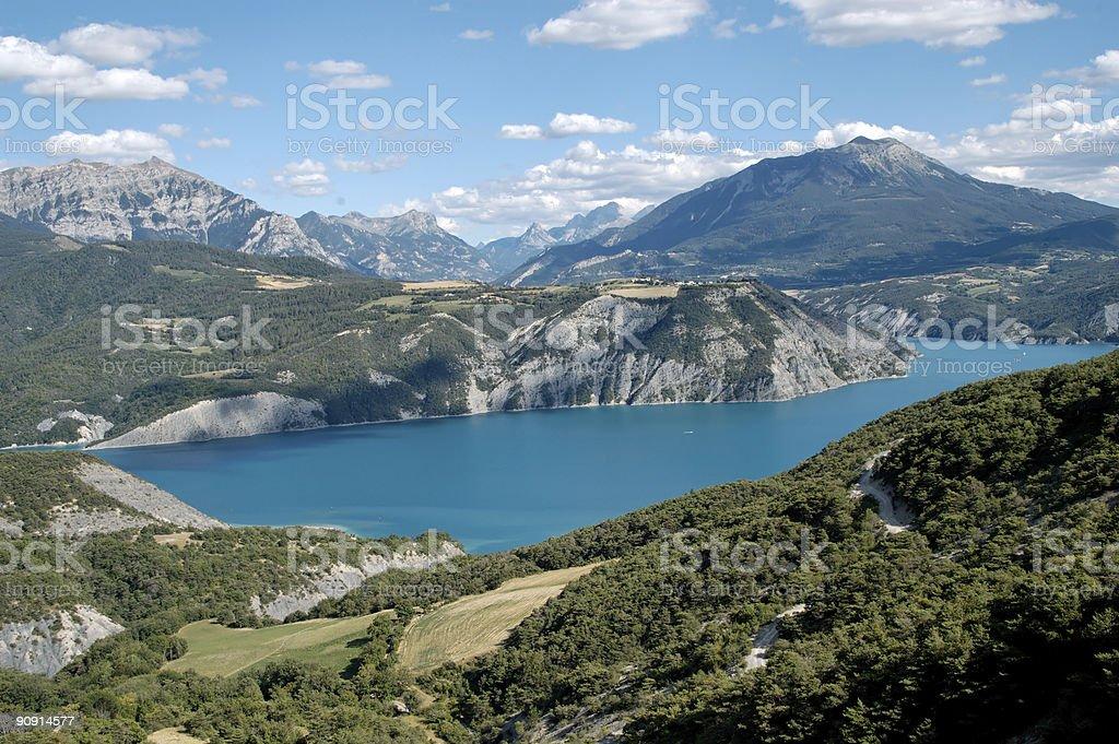 Serre-Ponçon lake (Alp- France) stock photo