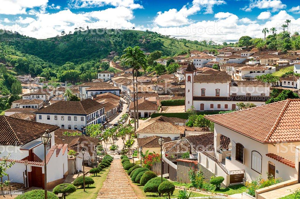 Serro city downtown, State of Minas Gerais stock photo