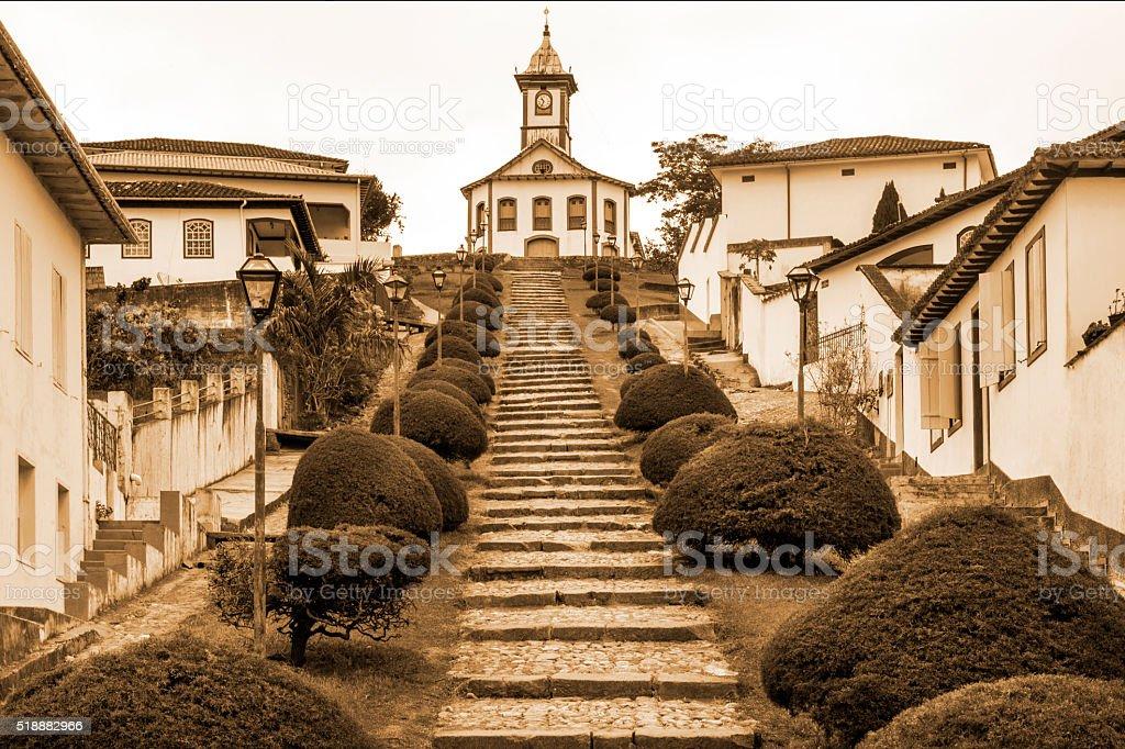 Serro city, State of Minas Gerais stock photo