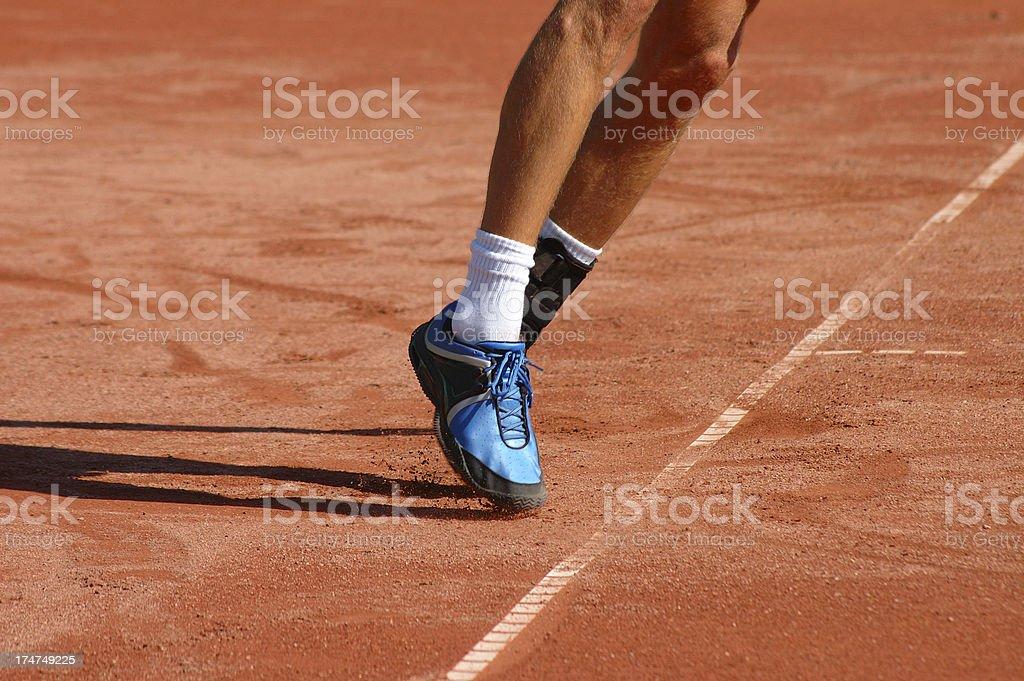 Serve footwork stock photo