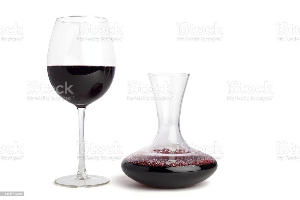 Serve red wine stock photo