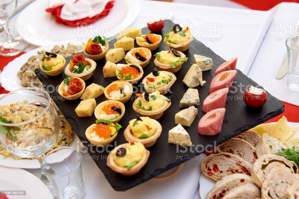 Served banquet table. royalty-free stock photo