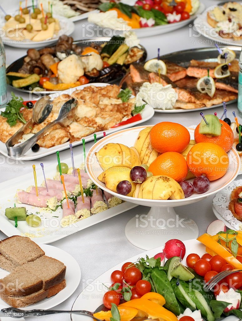 Served banquet table royalty-free stock photo