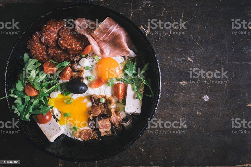 Served breakfast stock photo