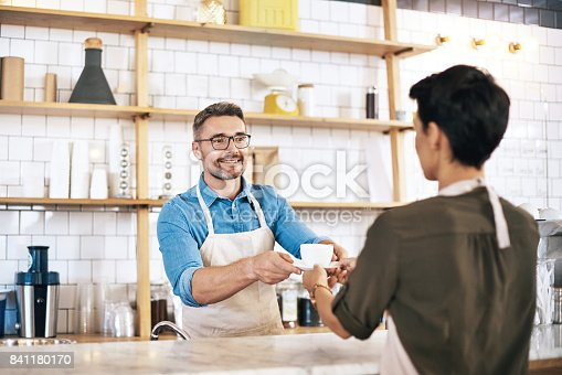 597640822 istock photo Served by the coffee connoisseur himself 841180170
