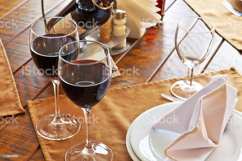 Served restaurant table royalty-free stock photo