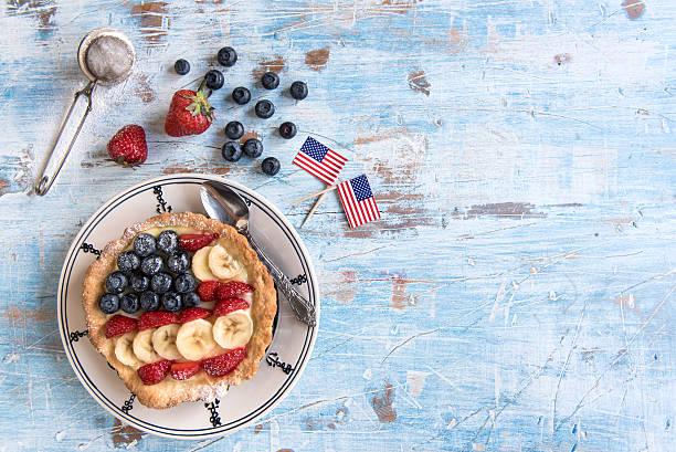 Served sweet pie stock photo