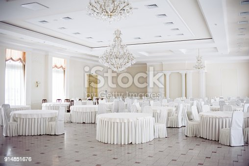 istock Served table. hall for banquets and weddings 914851676