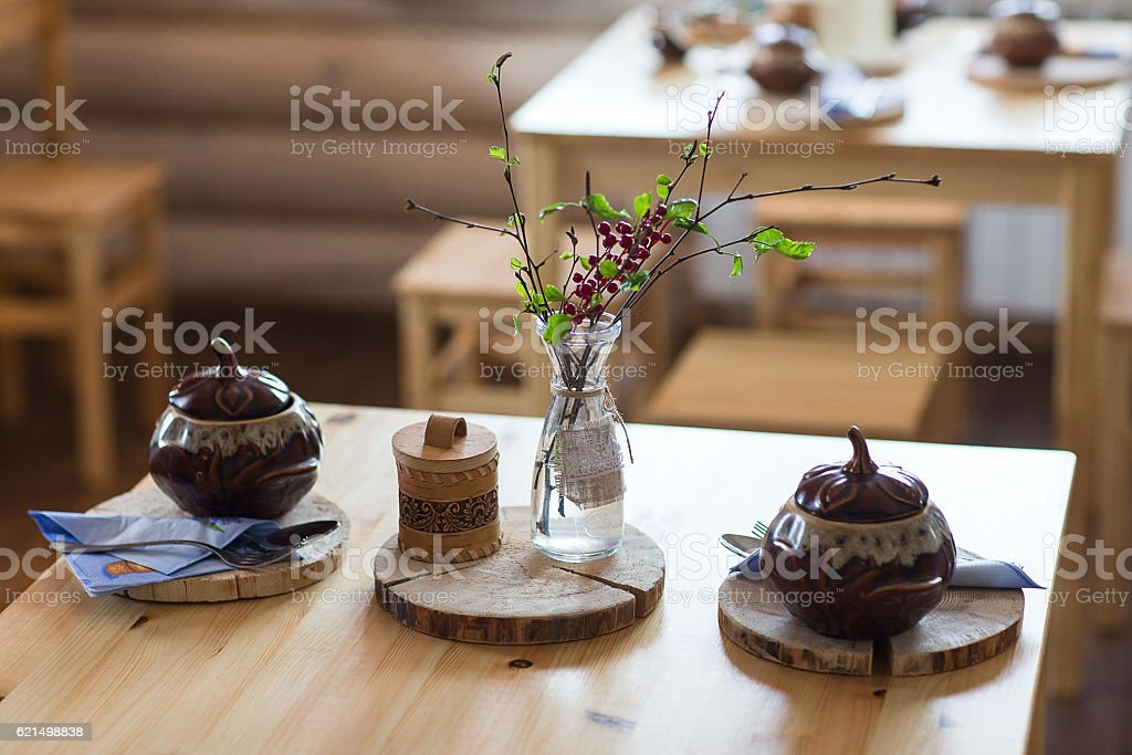 Served table the Russian style. foto stock royalty-free