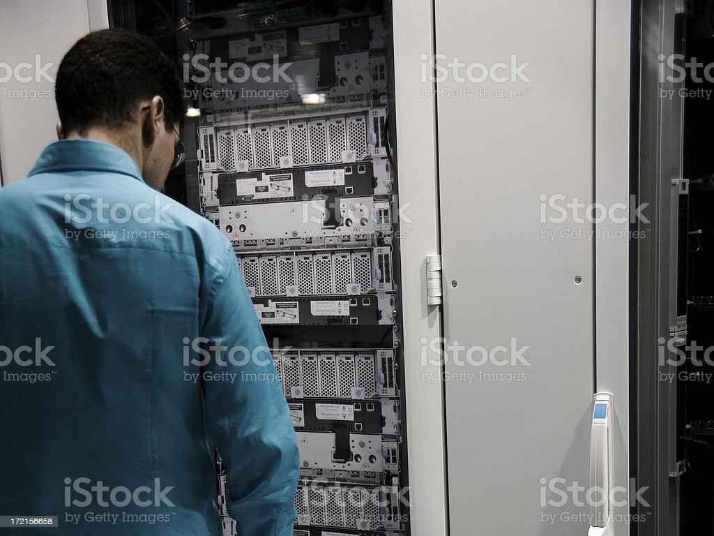 Server Administrator royalty-free stock photo