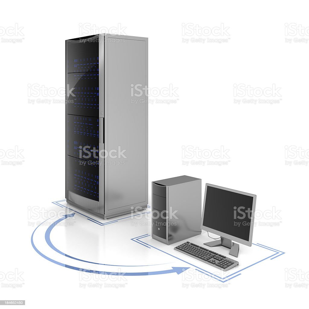 server and computer royalty-free stock photo