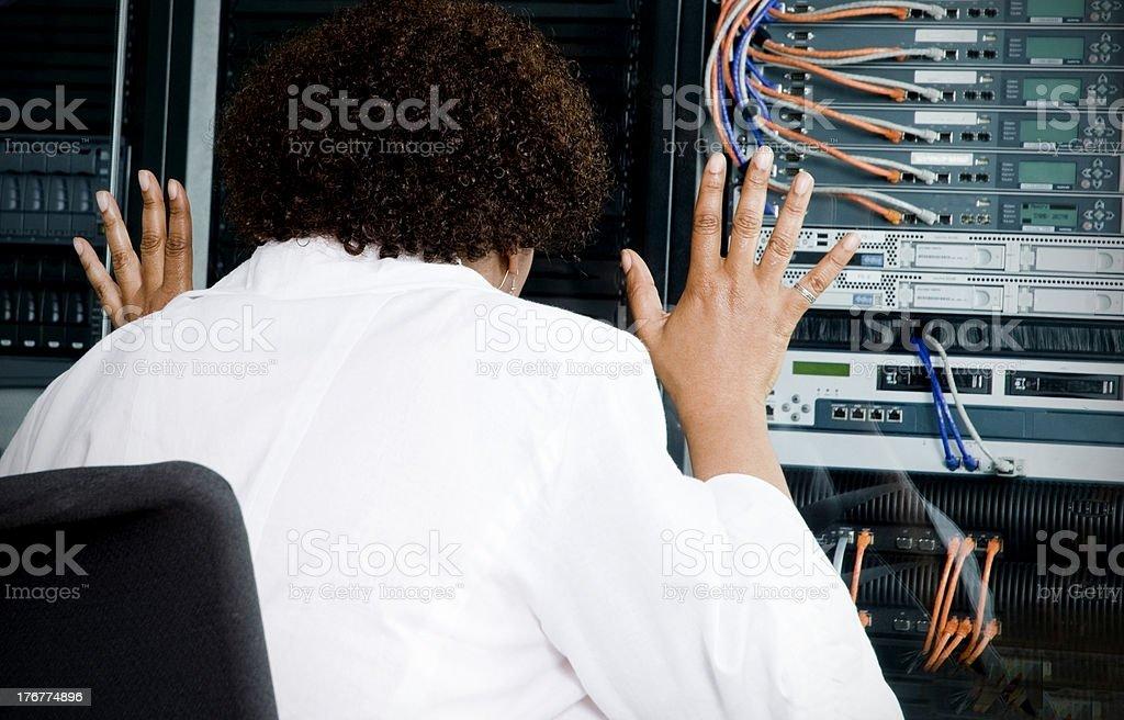 Server Breakdown, Network Crash! royalty-free stock photo