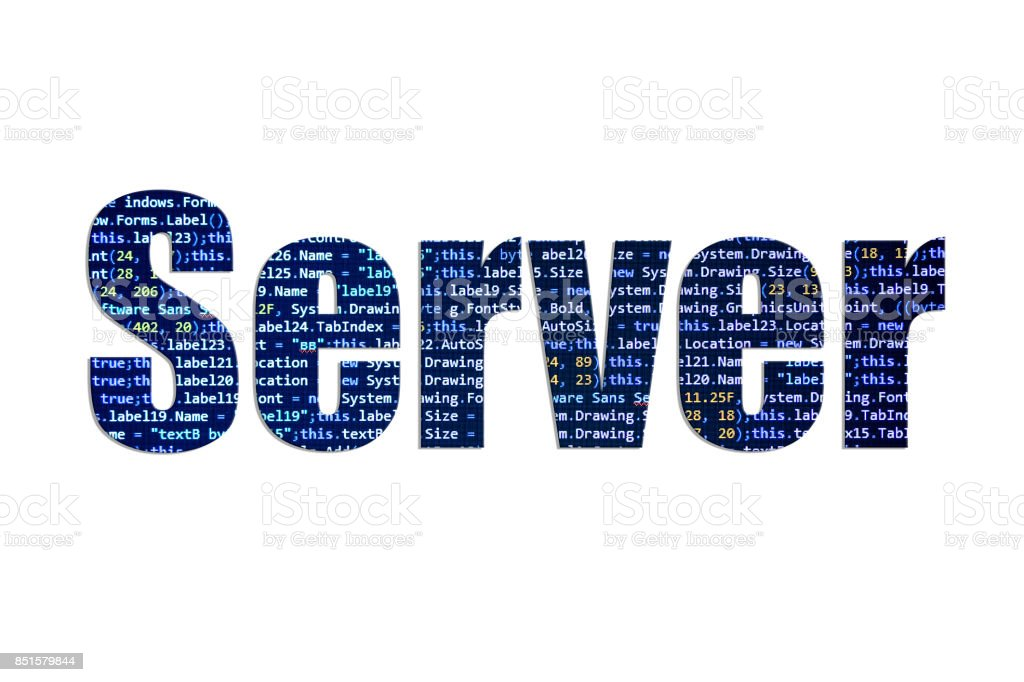 Server concept on a white background stock photo