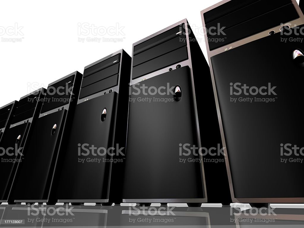 Server farm royalty-free stock photo