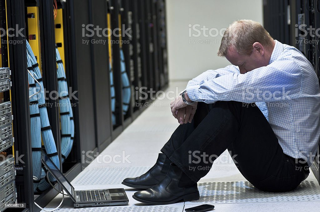 Server frustration royalty-free stock photo