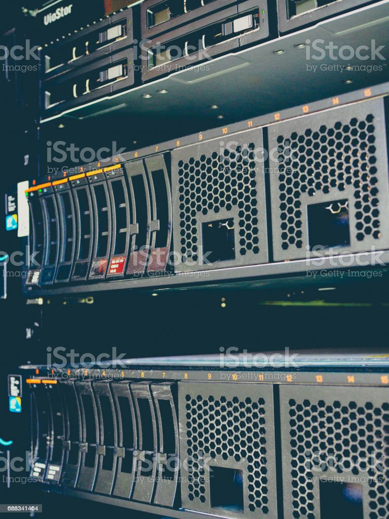 Server Hard Disk Rows stock photo