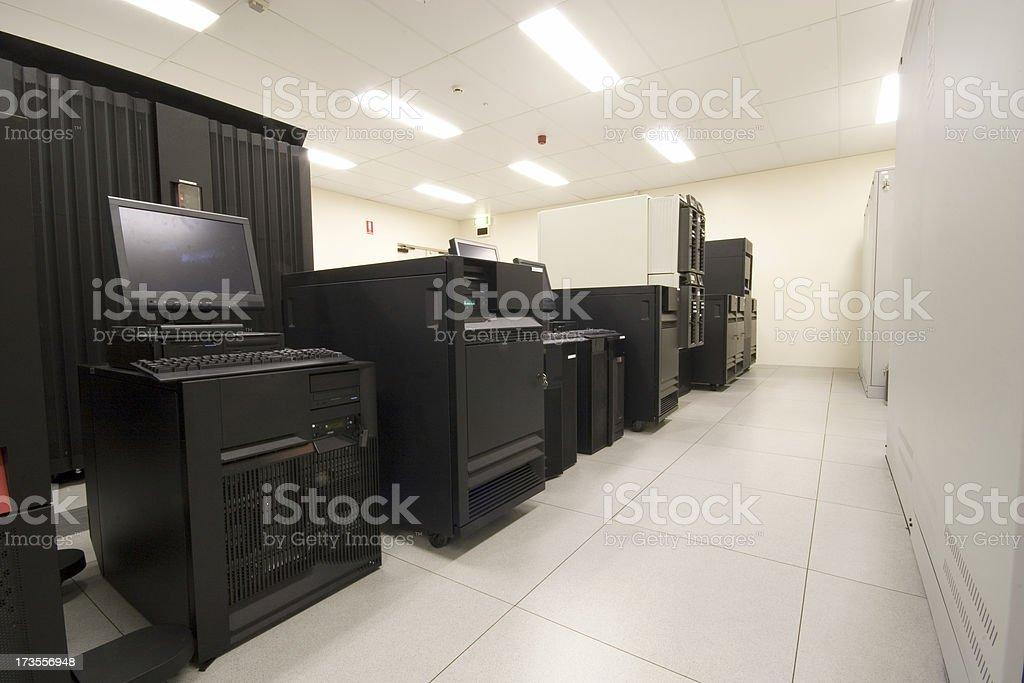 IBM Server Lineup stock photo