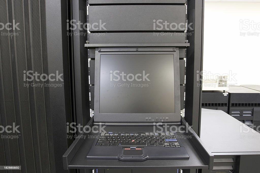 Server Monitor stock photo