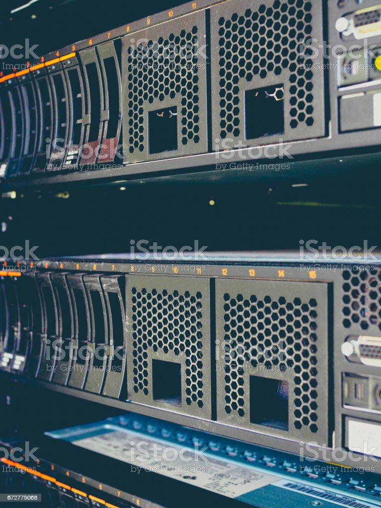 Server Rack Hard Disk stock photo