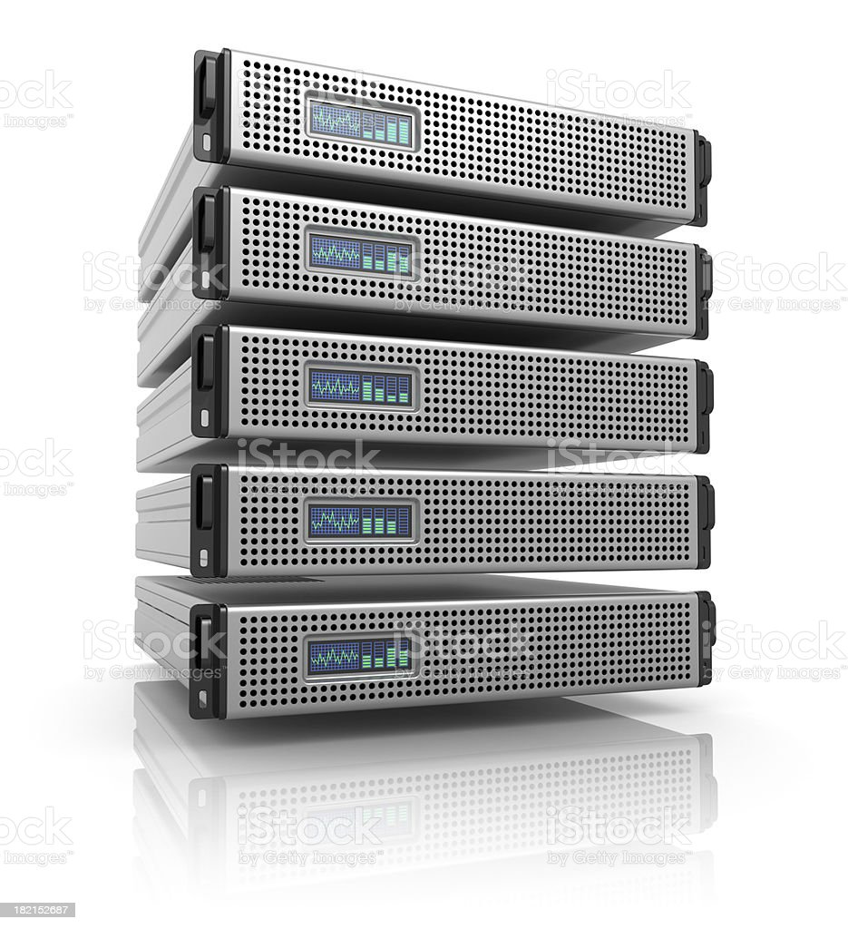 Server racks stock photo