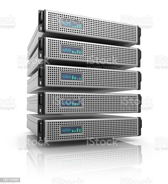 Serverracks Stockfoto und mehr Bilder von Daten