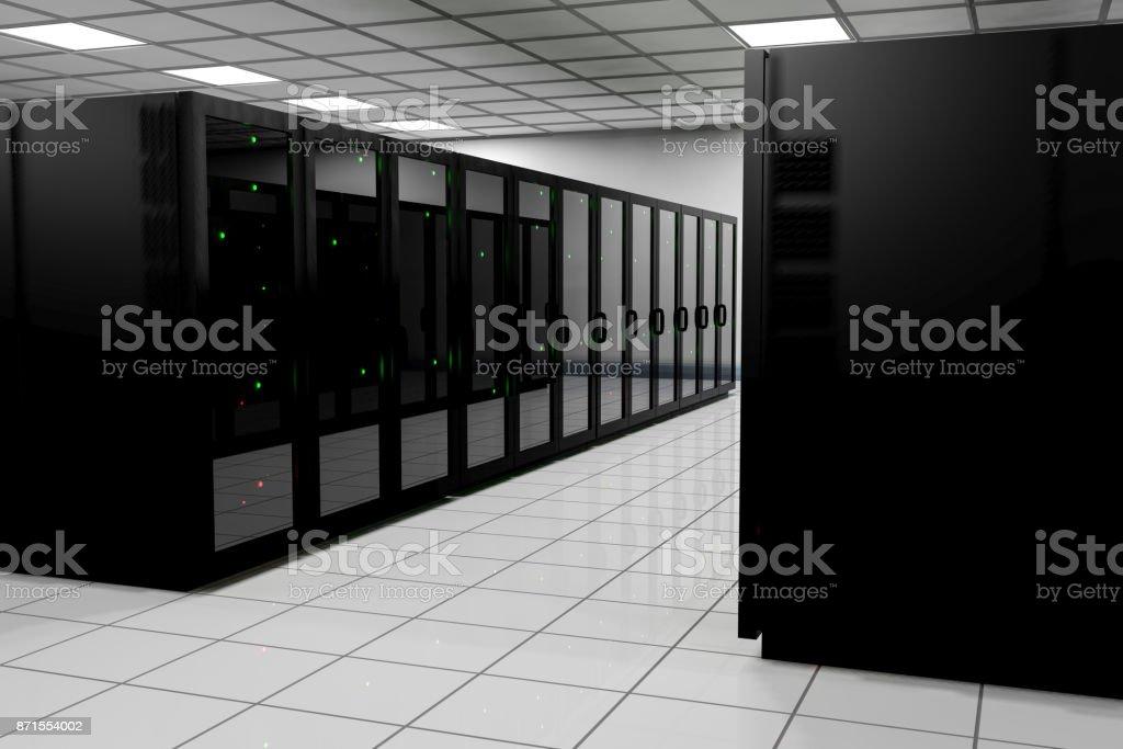 server room 3d stock photo
