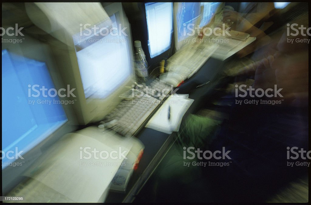 Server Room Abstract royalty-free stock photo