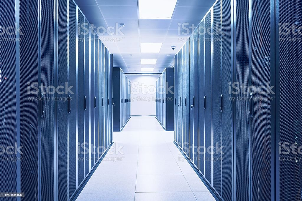 Server Room at Data Center royalty-free stock photo