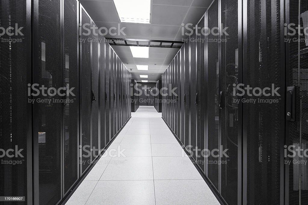 Server Room at Data Center stock photo