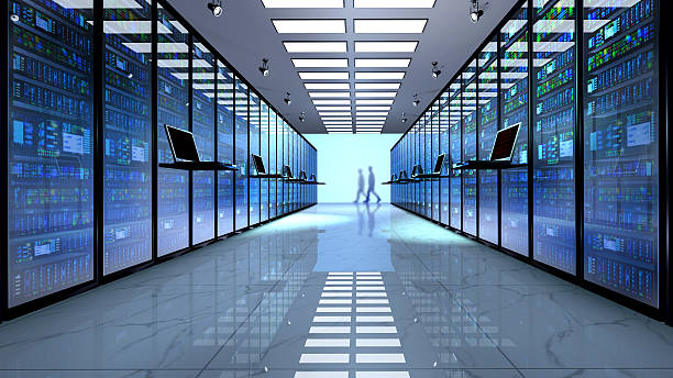Server room, datacenter. stock photo