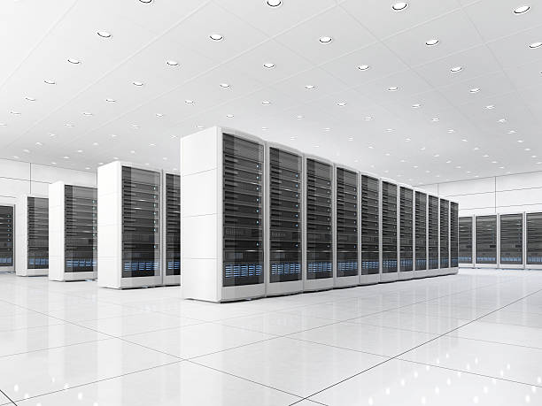 server room in datacenter - network server stock pictures, royalty-free photos & images