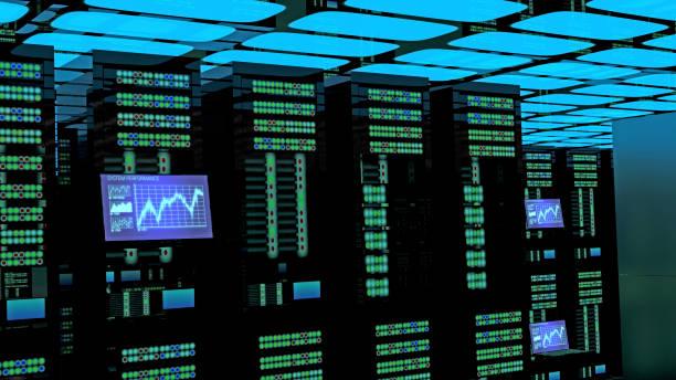 Serverraum-Innenimin rechenzentrum – Foto