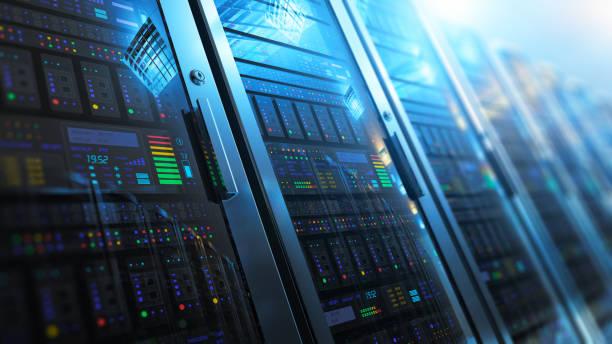server zimmer in datacenter innen - bund stock-fotos und bilder
