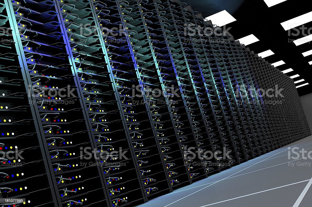 Server room interior stock photo