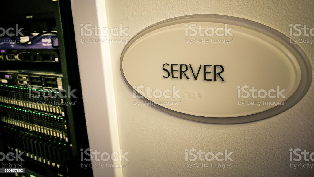Server Room Or Server Closet Royalty Free Stock Photo